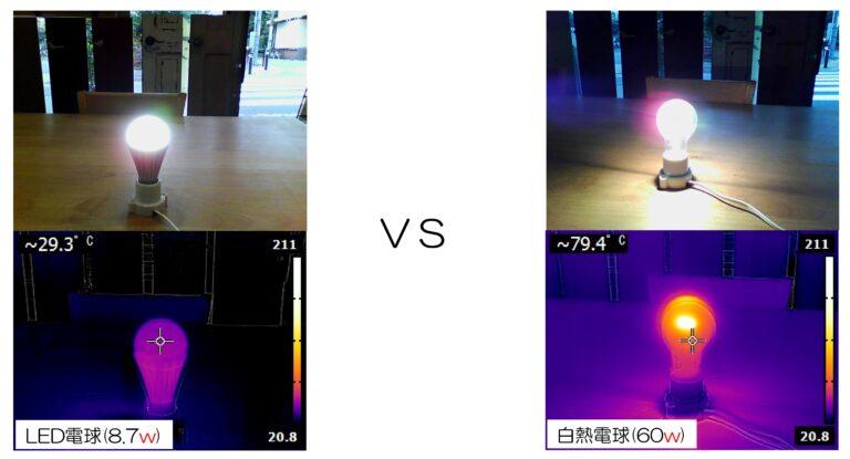 LED電球 VS 白熱電球 2