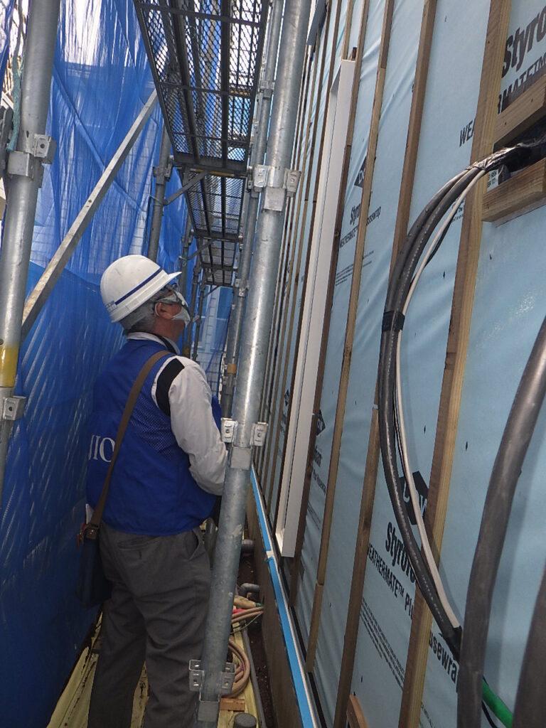 練馬区桜台 y邸の追加外装下地検査