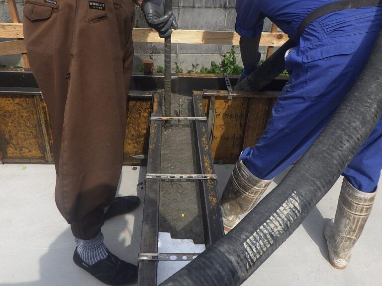 板橋区蓮根の基礎コンクリート打設